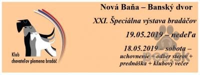 Špeciálna výstava bradáčov - Nová Baňa - Banský dvor
