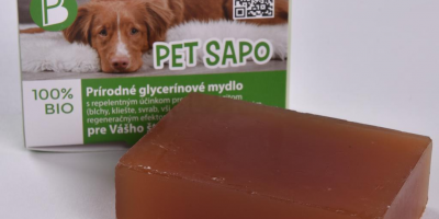 ,Pet Sapo – výnimočné prírodné glycerínové anti-parazitické mydlo pre psov s trojitým účinkom od slovenskej firmy Petbelle