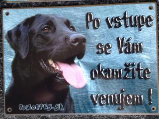 ,Tabuľky pozor pes na bránu