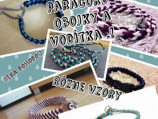 ,Handmade paracord obojky a vodítka