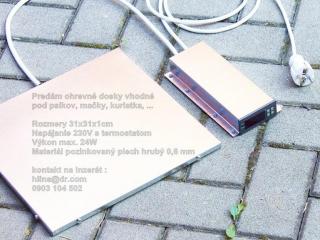 ,Vyhrievacia podlozka 31x31x1cm na 230V s termostatom