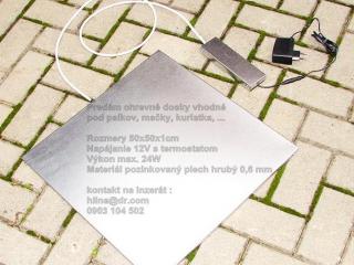 ,Vyhrievacia podlozka vyhrevna doska pre psa 50cm 12V s termostatom
