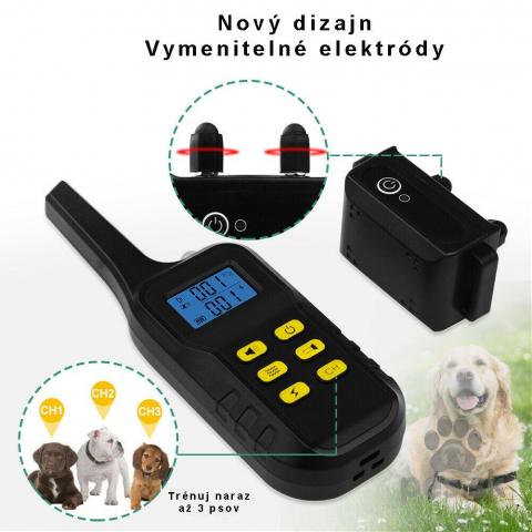 ,Elektrický obojok pre 2 psov 2v1-výcvikový+ obojok proti štekaniu