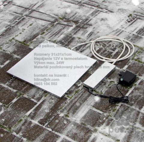 ,Vyhrievacia podlozka vyhrevna doska pre psa 31cm 12V s termostatom